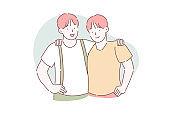 Brotherhood, friendship, partnership concept