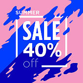 Summer Sale poster - Discount 40% off