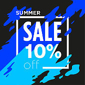 Summer Sale poster - Discount 10% off