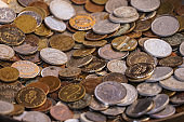 The old metal coins