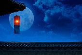 a full moon and Chuseok