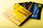 Credit card, cash card, financial business card Business card and online business