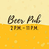 Vector background with yellow beer, lager backdrop