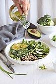 Broccoli Quinoa superfood salad