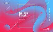 abstract fluid shape background in duotone colors