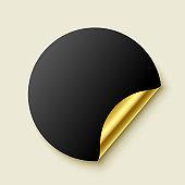 premium empty golden realistic sticker