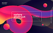 abstract 3d wave fluid motion in vibrant colors