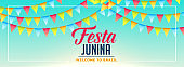 Celebration Junina flags Decoration Banner Design