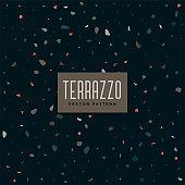 dark terrazzo pattern background design