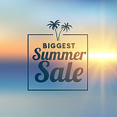awesome summer sale stylish background