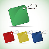 Blank Colorful Price Tags Clip-Art