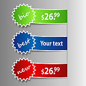 Price Tag, Label or Badge Templates Clip-Art
