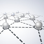 Networks Concept - Connected Globes Design