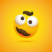 Smiling Emoji with Mustache