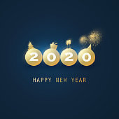 New Year Card Background - 2020
