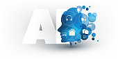 Artificial Intelligence, Cloud Computing, Home Automation Concept