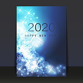 New Year Flyer, Card or Cover Design - 2020