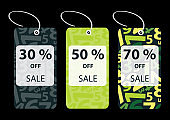 Green Price Tags Clip-Art