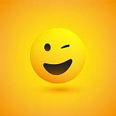 Smiling and Winking Emoji