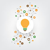 Ideas, Eco Friendly Technology - Design Concept with Icons