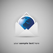 Globe Out of an Envelope - Global Communication Concept