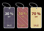 Colorful Price Tags Clip-Art