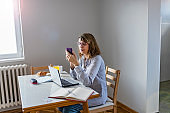 Mature woman texting