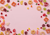 Colored sweets frame