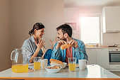 We never skip a breakfast date at home