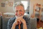 Close-up Portrait of Happy Senior Man