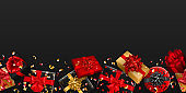 Background with repeating gift boxes