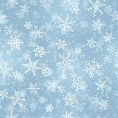 Christmas seamless pattern of snowflakes