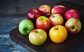 different apple varieties