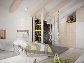 Cool kids bedroom with climbing corner
