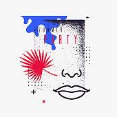 Modern abstract art geometric background