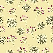 sweet cute summer flowers seamless pattern
