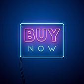 Buy Now neon sign.