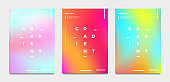 Abstract gradient poster and cover design
