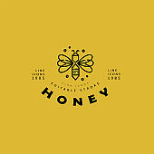 Vector icon and logo honey. Editable outline stroke size