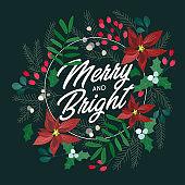 신년, 크리스마스 카드 템플릿
