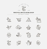 Vector icon and logo for environmental protection and recycling
