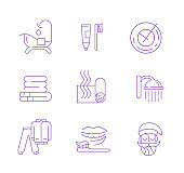 Vector icon and logo for sleeping. Editable outline stroke size.