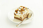 Chocolate Cake with caramel and nuts.
