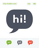 Greeting & Chat Bubble - Sticker Icons