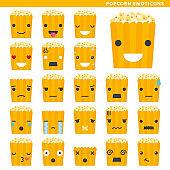 popcorn emoticons