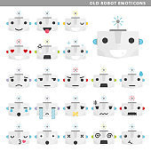 old robot emoticons