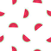 seamless background with pattern of watermelons. vector.