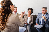 Diverse business people on a business meeting