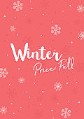 Winter a4 Flyer Banner poster template vector illustration Background greeting card