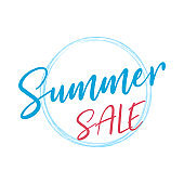 Summer Sale Text Typography Sign